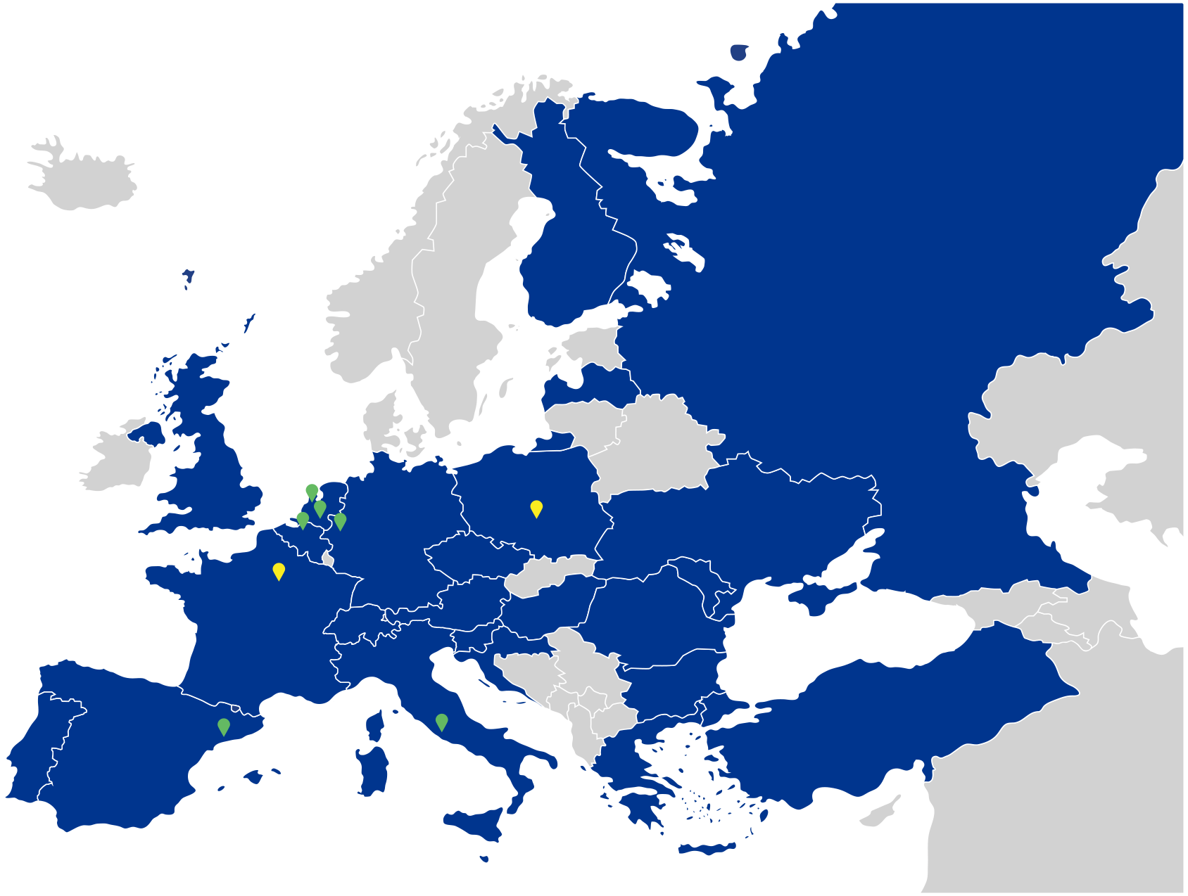 Dekking Europese incasso landen
